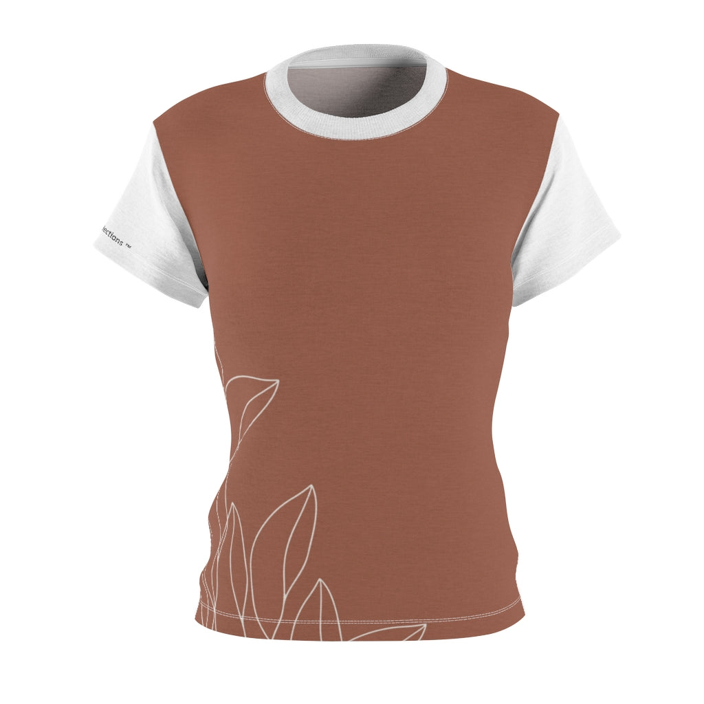 Brown Floral Women's Tee