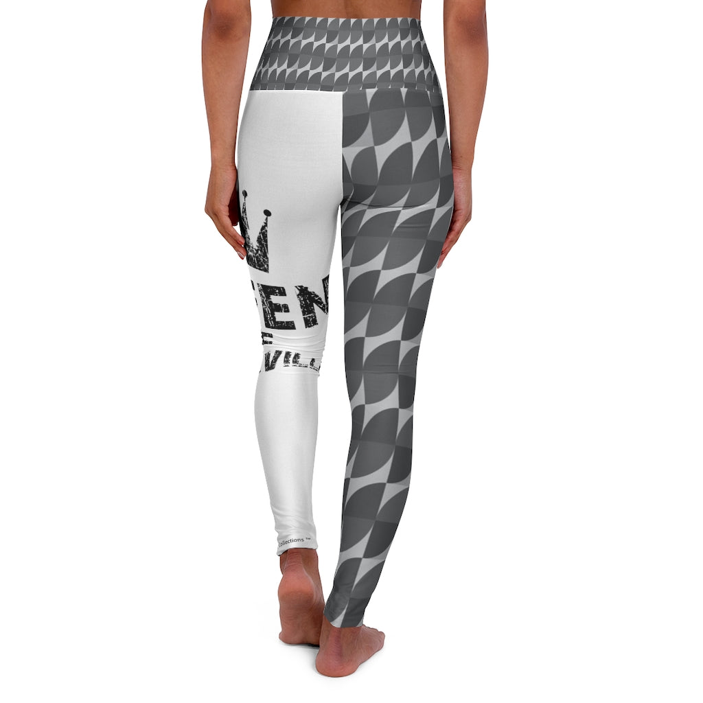 High Waisted Yoga Leggings - Shades of Gray