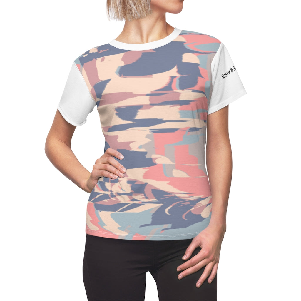 Multi-color Purple Women's Tee