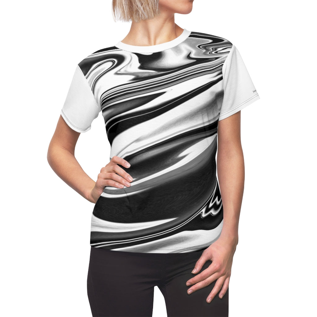 Sassy & Swag Collections Women's Tee - black and white