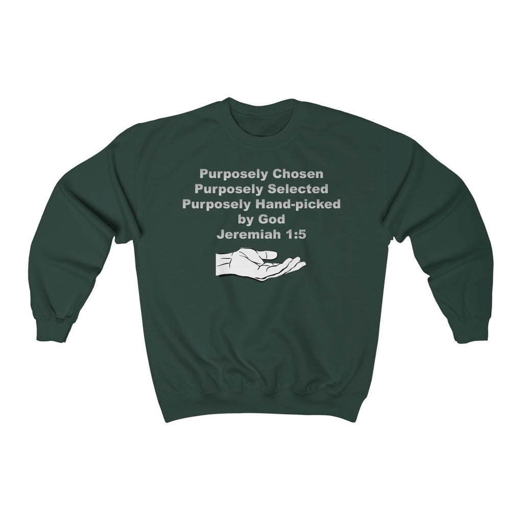 Purposely Chosen Jeremiah 1:5 Unisex Heavy Blend™ Crewneck Sweatshirt