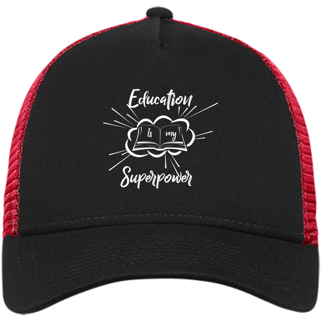 Education is My Superpower Snapback Trucker Cap