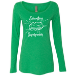 Education is My Power Ladies' Triblend LS Scoop
