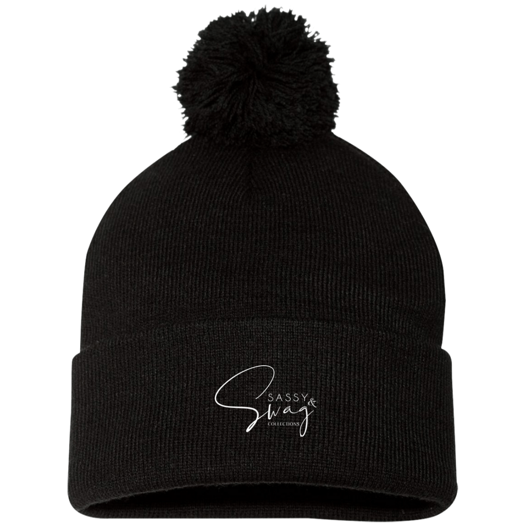 Sassy & Swag Collections Pom Pom Knit Cap