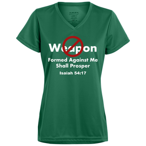 No Weapon Formed Ladies' Wicking T-Shirt