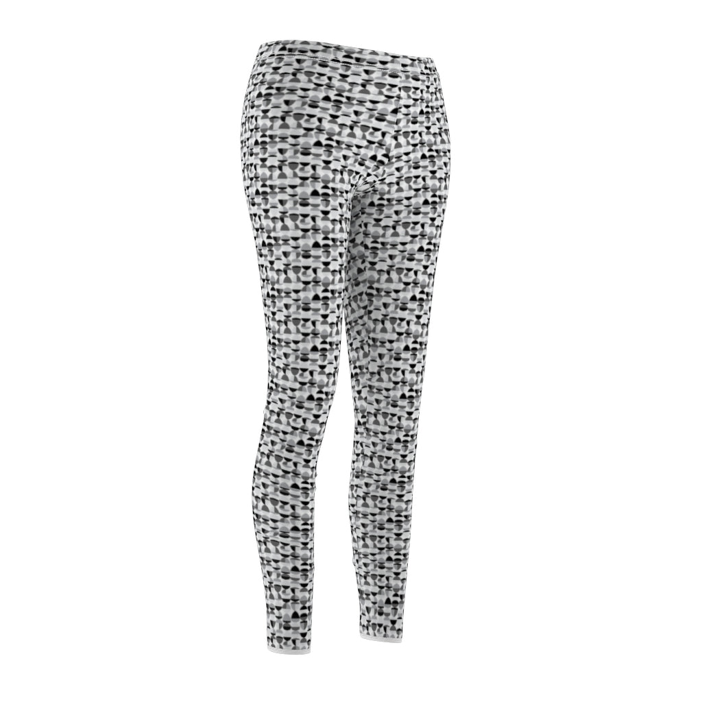 Grey Patterned Women's Casual Leggings