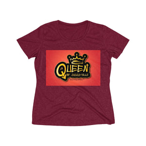 Sassy & Swag Collections - Queen of Sassy-ville Women's Heather Wicking Tee