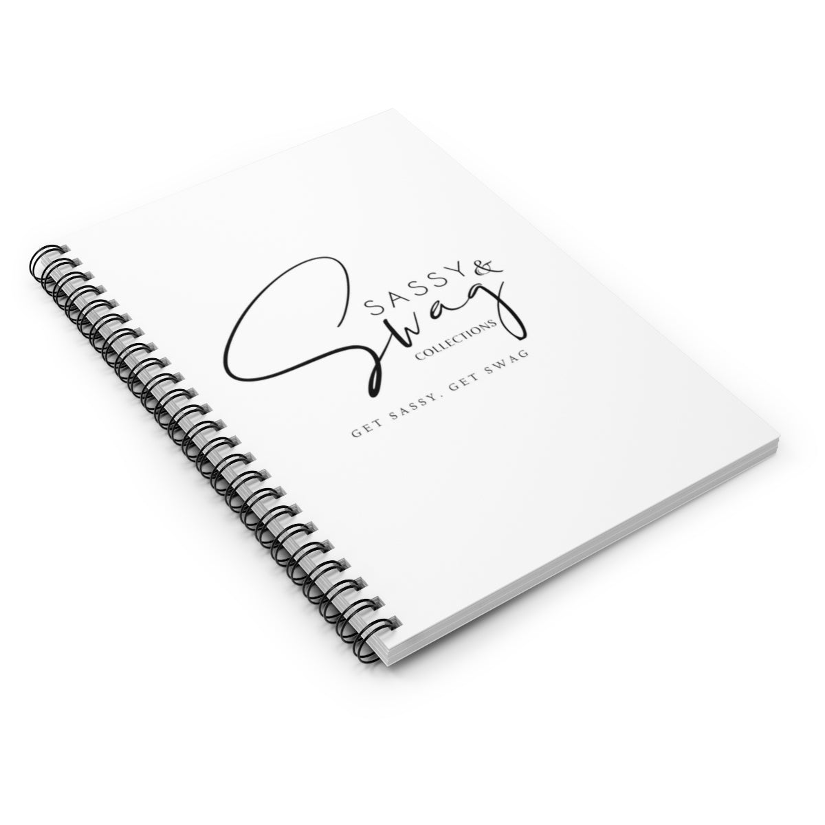 Sassy & Swag Collections Spiral Notebook - Ruled Line