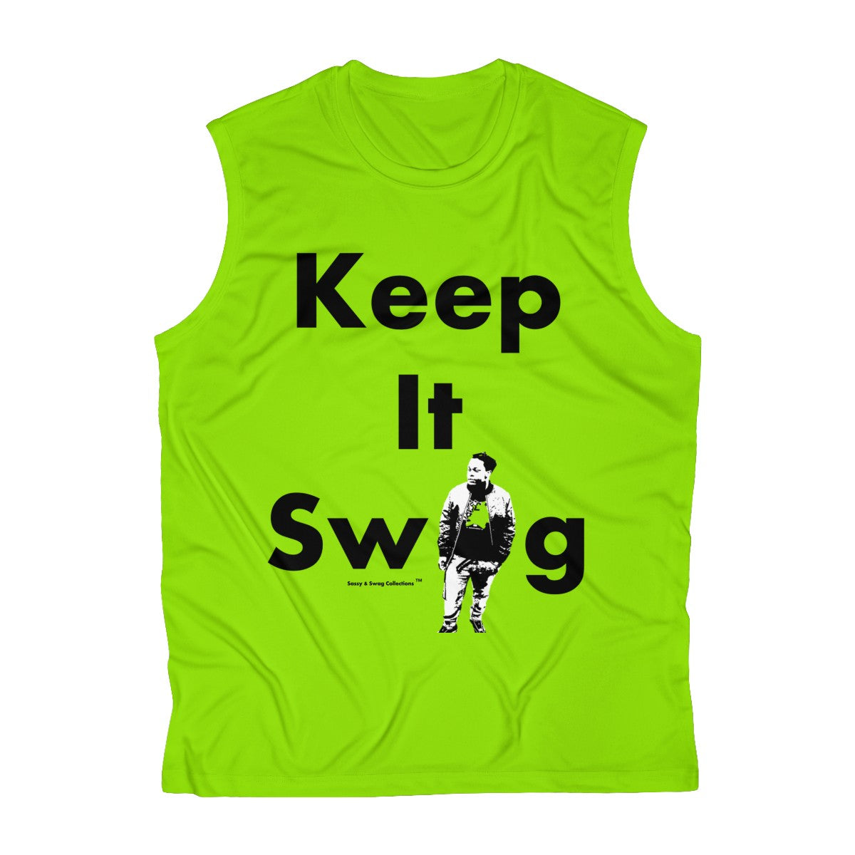 Sassy & Swag Collections - King of Swag-ville Men's Sleeveless Performance Tee