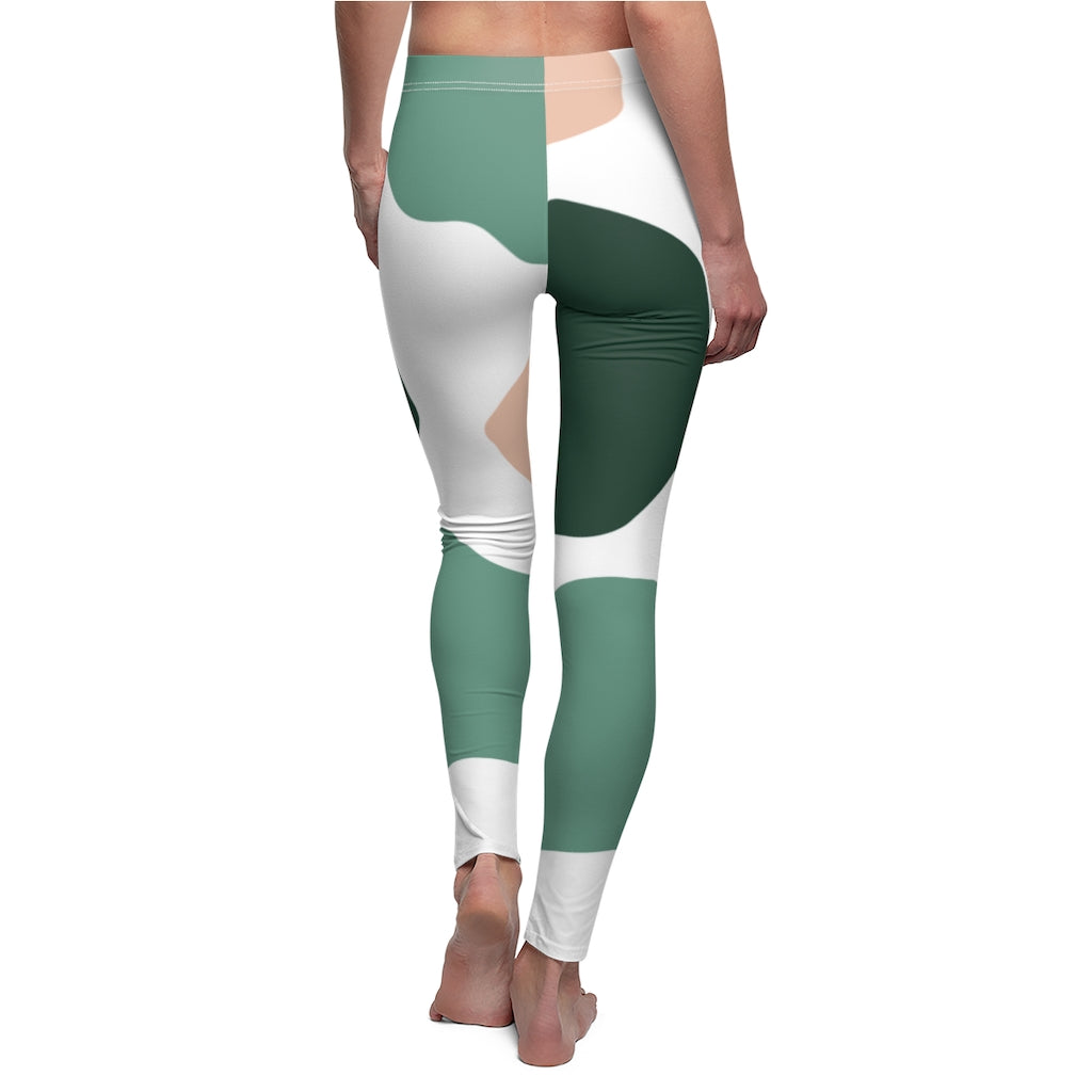 Multi-Color Patch Women's Casual Leggings