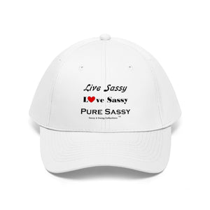 Sassy & Swag Collections - Live Sassy Love Sassy Pure Sassy Women's Twill Hat
