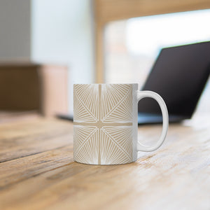 White Burst Ceramic Mug 11oz