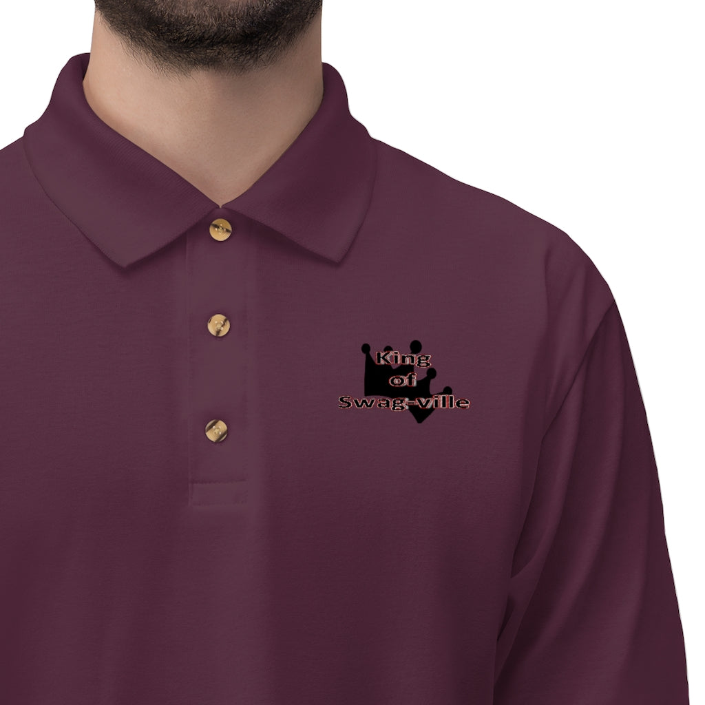 Sassy & Swag Collections - King of Swag-ville Men's Jersey Polo Shirt
