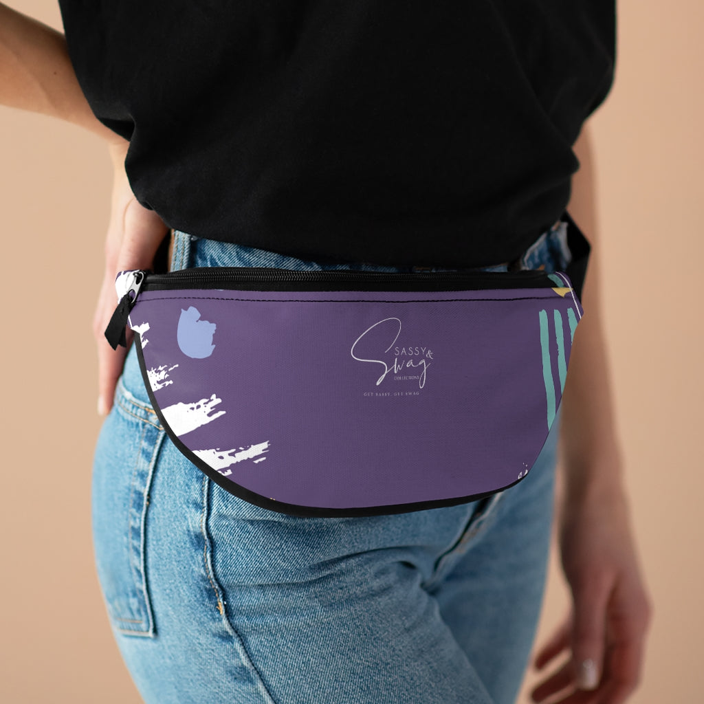 Sassy & Swag Collections Purple Fanny Pack