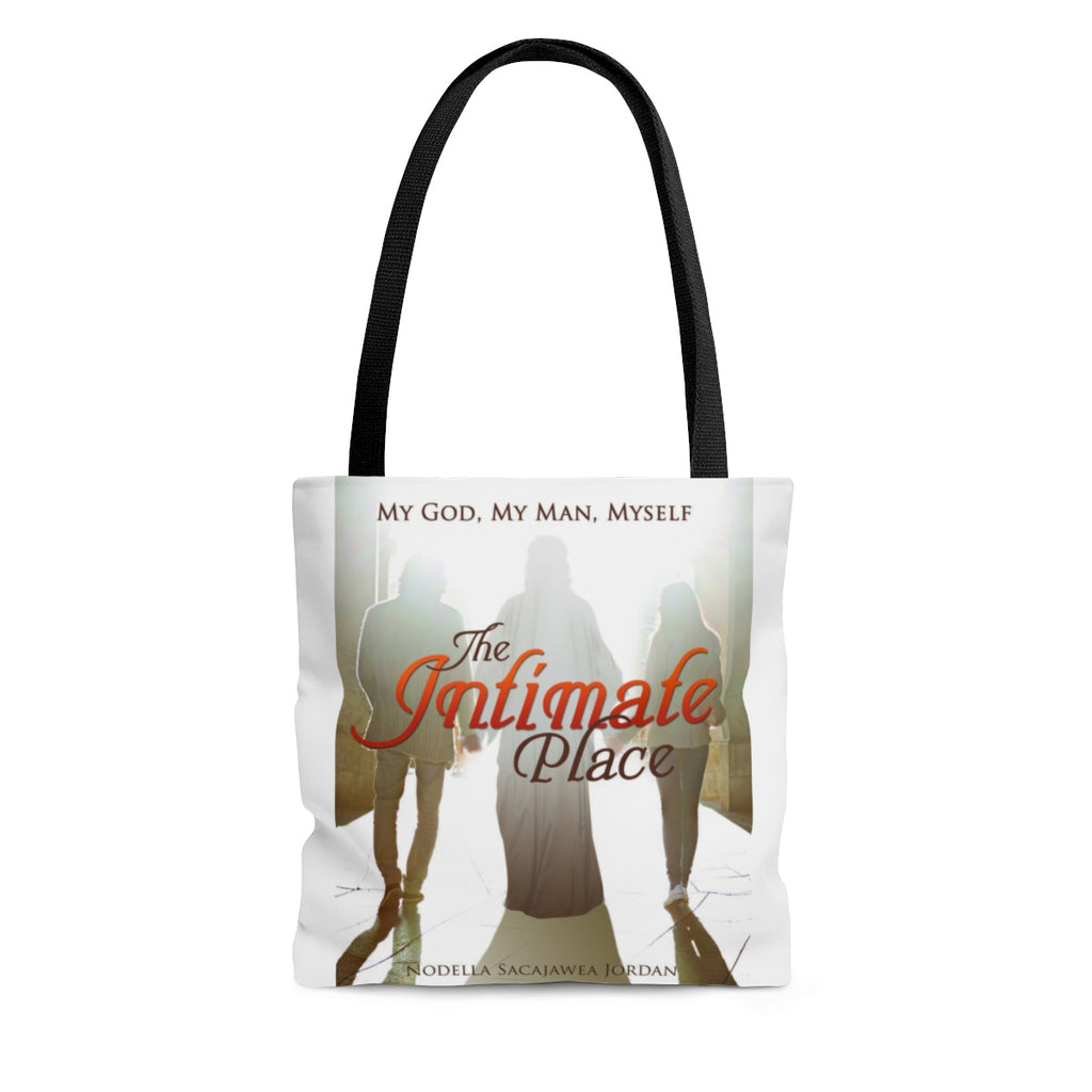 The Intimate Place: My God, My Man, Myself AOP Tote Bag