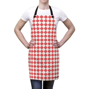 Red and White Unisex Apron
