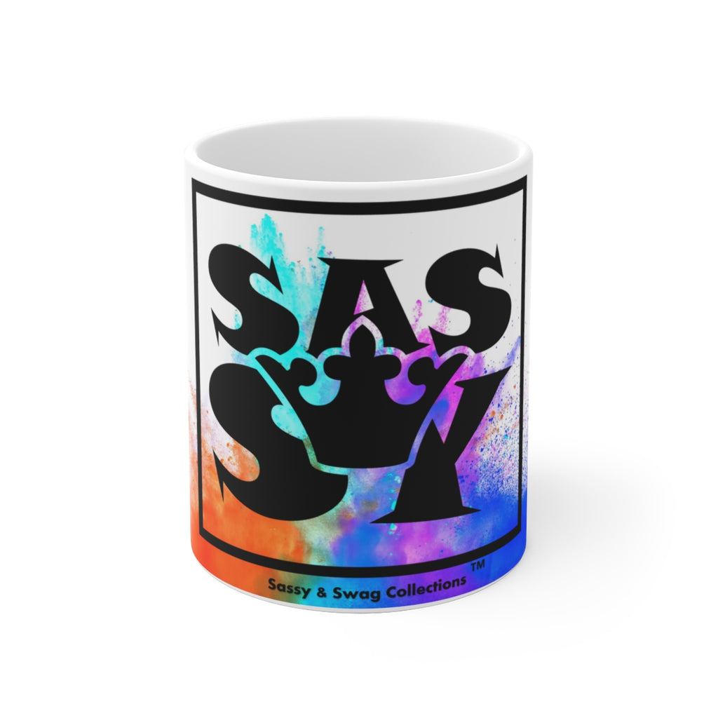 Sassy & Swag Collections - Sassy Queen Multi-colored White Ceramic Mug