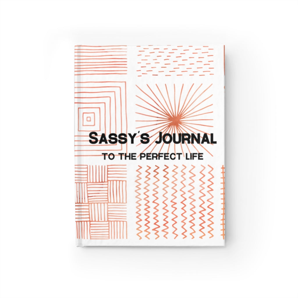 Sassy's Journal - Ruled Line - Orange