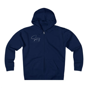 Sassy & Swag Collections - Swag Capitol Men's  Heavyweight Fleece Zip Hoodie
