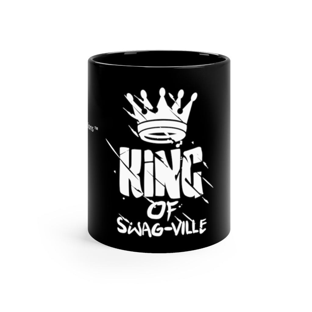 Sassy & Swag Collections - King of Swag-ville Black mug 11oz
