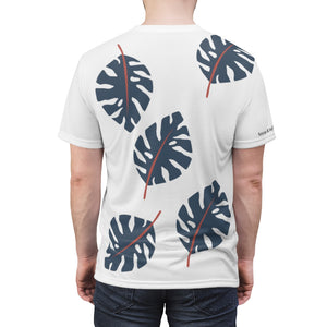 Large Blue Leaf Men's Casual Tee