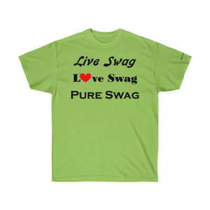 Sassy & Swag Collections - Live Swag Love Swag Pure Swag Men's Ultra Cotton Tee