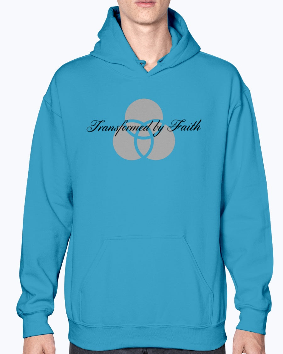 Transformed By Faith Unisex Gildan 50/50 Hoodie