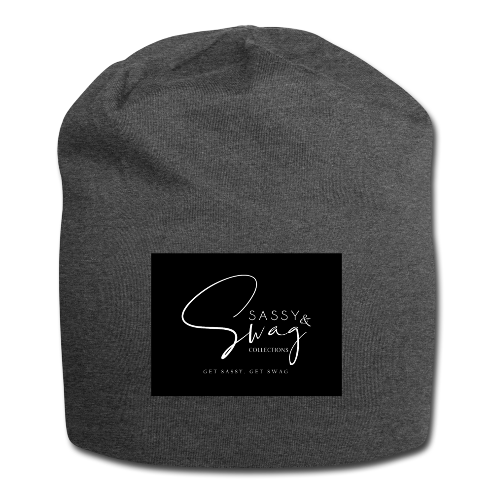 Sassy & Swag Collections Jersey Beanie - charcoal gray
