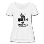 Queen of Sassy-ville Women's Festival Scoop Neck T-Shirt - white