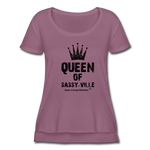 Queen of Sassy-ville Women's Festival Scoop Neck T-Shirt - grape