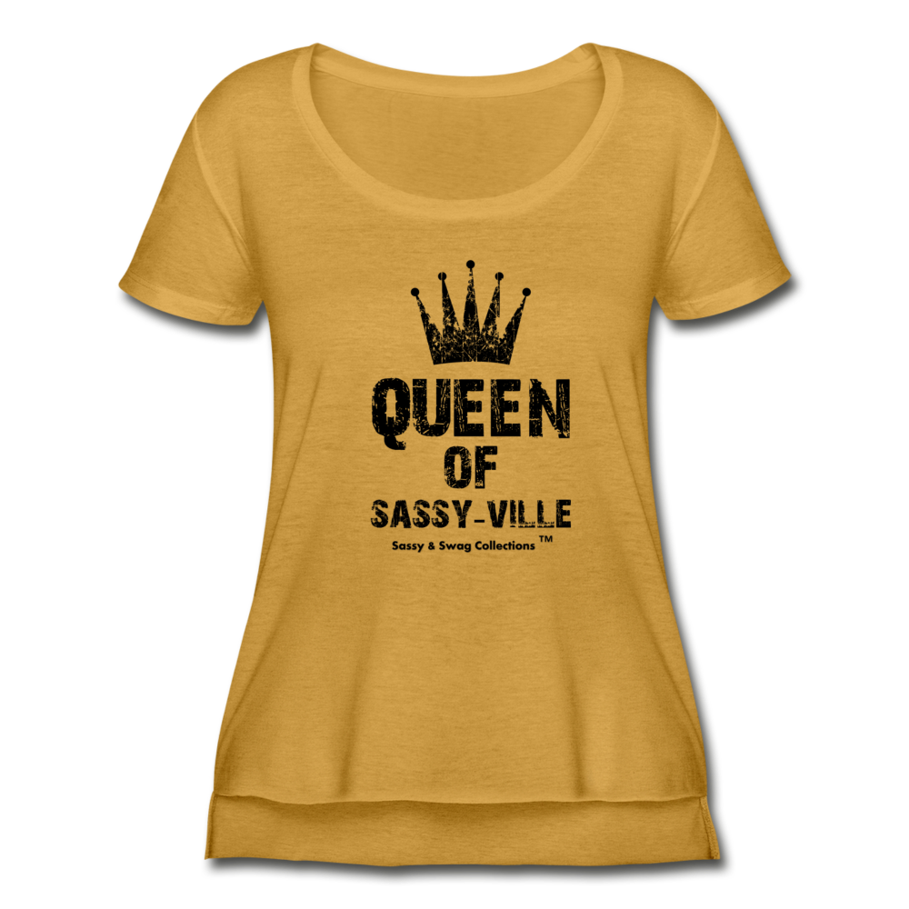 Queen of Sassy-ville Women's Festival Scoop Neck T-Shirt - antique gold
