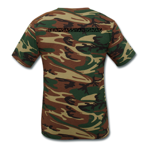 Get Sassy. Get Swag. Unisex Camouflage T-Shirt - green camouflage