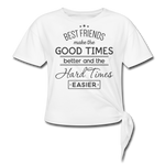 Best Friends Women's Knotted T-Shirt - white
