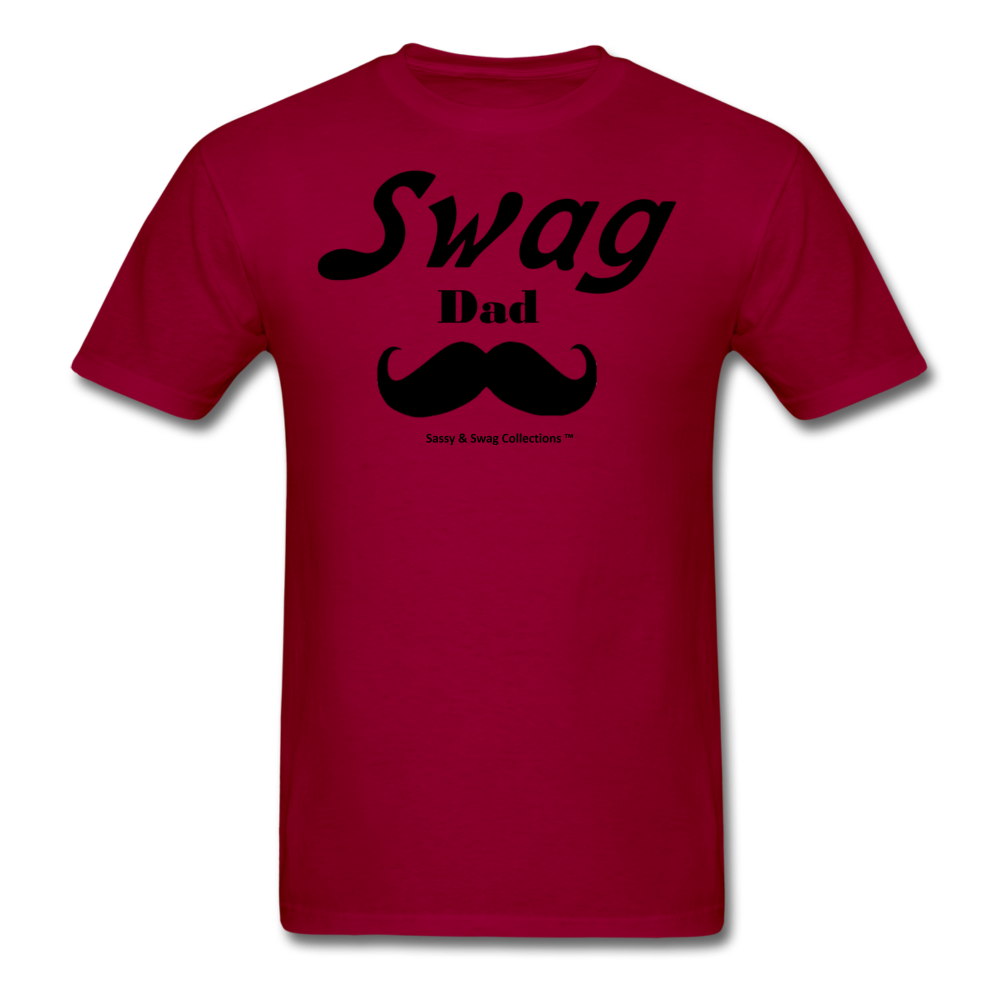 Swag Dad Men's T-Shirt - dark red