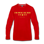 I'm Swag All Day Men's Premium Long Sleeve T-Shirt - red