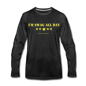 I'm Swag All Day Men's Premium Long Sleeve T-Shirt - charcoal gray