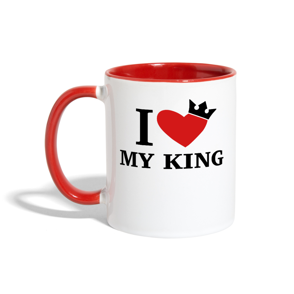 I Love My King Coffee Mug - white/red
