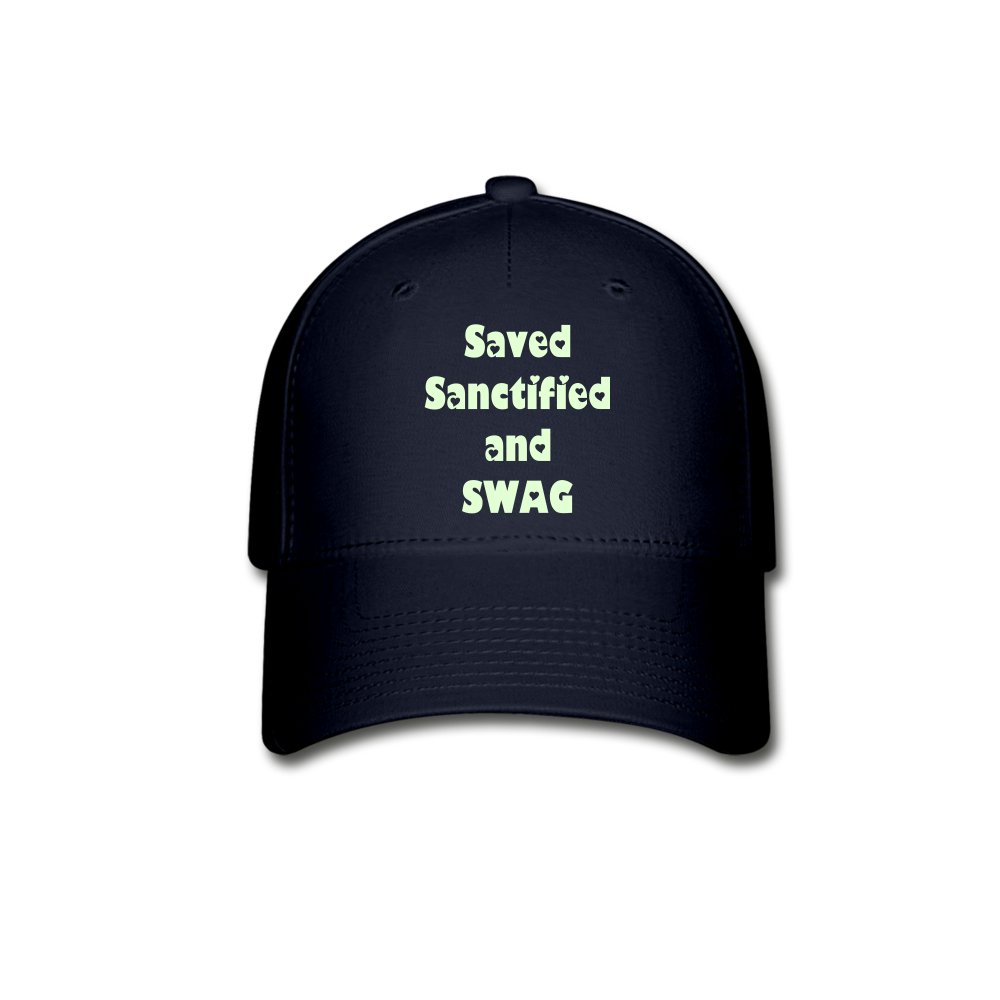 Saved Sanctified and SWAG Baseball Cap - navy