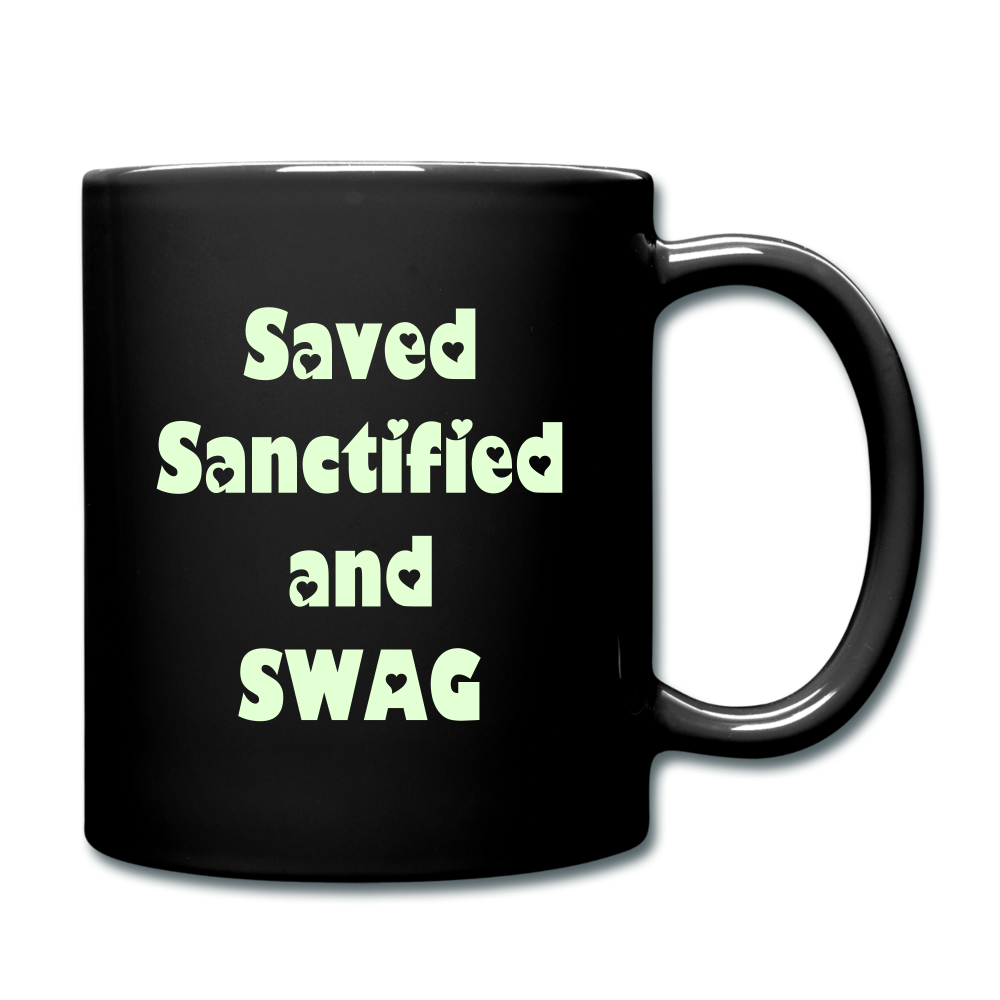 Saved Sanctified and SWAG Full Color Mug - black