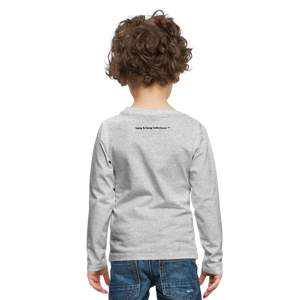Boom Lightning Bolt Kids' Premium Long Sleeve T-Shirt - heather gray