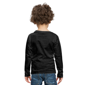 Boom Lightning Bolt Kids' Premium Long Sleeve T-Shirt - charcoal gray