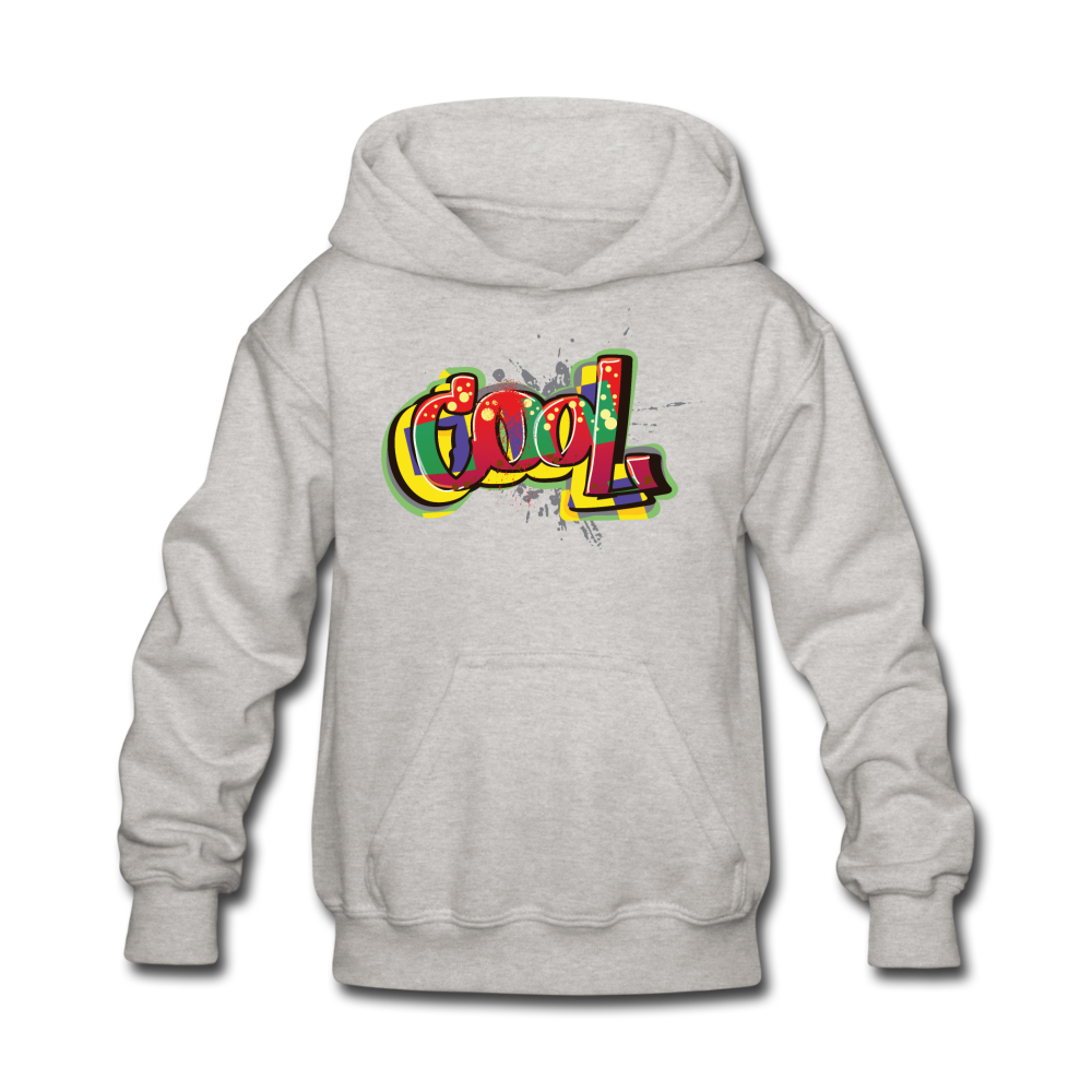 Colorful Cool Kids' Hoodie - heather gray