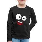 Monster Face Kids' Premium Long Sleeve T-Shirt - black