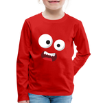 Monster Face Kids' Premium Long Sleeve T-Shirt - red