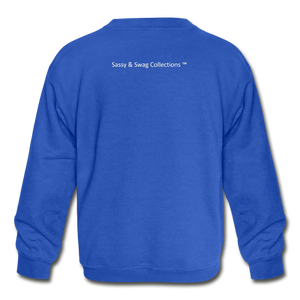 Straight Outta My Room Kids' Crewneck Sweatshirt - royal blue