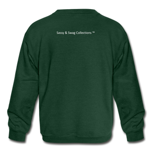 Straight Outta My Room Kids' Crewneck Sweatshirt - forest green