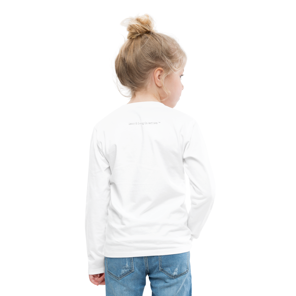Ninja Kids' Premium Long Sleeve T-Shirt - white