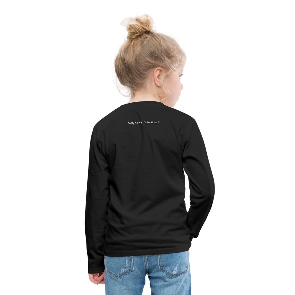 Ninja Kids' Premium Long Sleeve T-Shirt - black