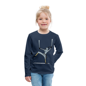 Ninja Kids' Premium Long Sleeve T-Shirt - navy