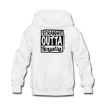 Straight Outta Royalty Kids' Hoodie - white